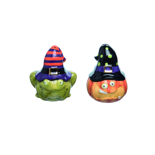 SALE!  Toad & Pumpkin Salt & Pepper Set