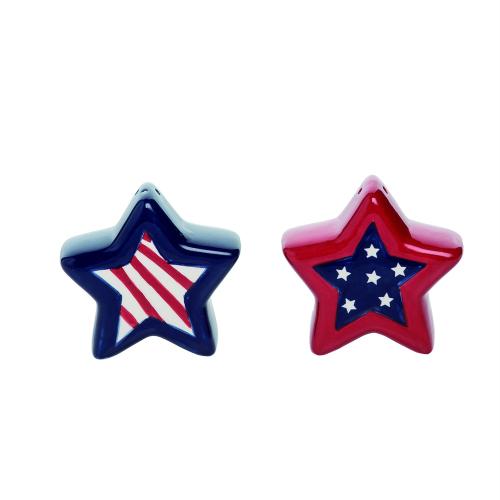 Patriotic Stars Salt & Pepper