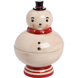 Cheery Snowman Candy Dish
