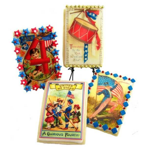 Holiday Vintage Patriotic Postcards Wafer Paper