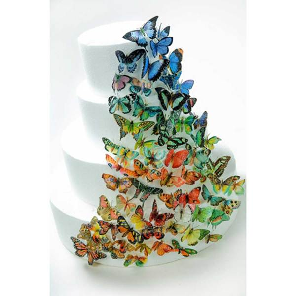 Butterflies All Hues in Set Wafer Paper