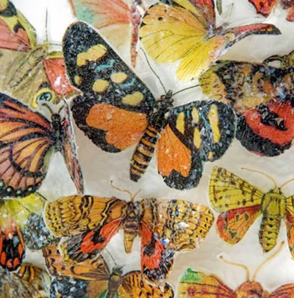Butterflies Earth Hues Wafer Paper