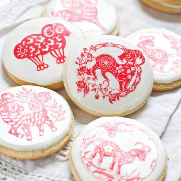 Chinese New Year of the Goat 2015 Wafer Paper