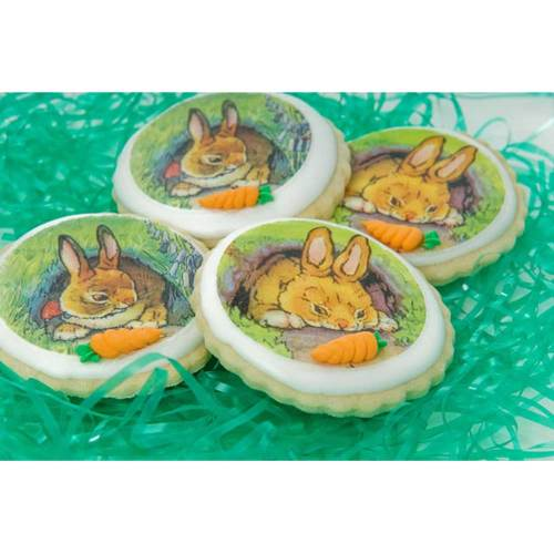 Easter Sweet Bunnies Wafer Paper, 24 Images, 2""