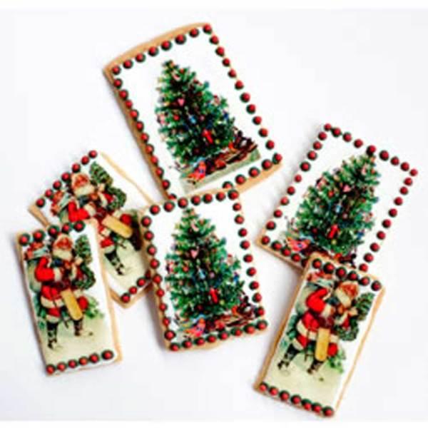 Holiday Victorian Tree and Santa Wafer Paper