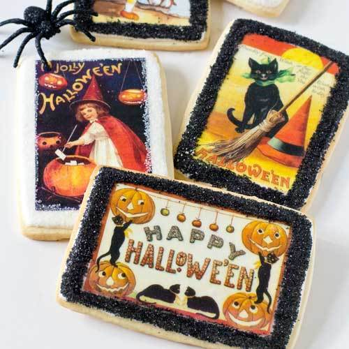 Vintage Halloween Postcards Wafer Paper - 2020 New Size