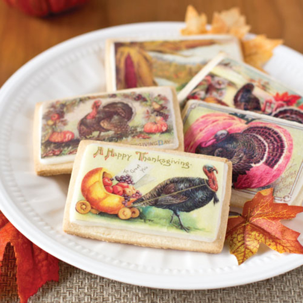 Mini Thanksgiving Vintage Postcards Wafer Paper