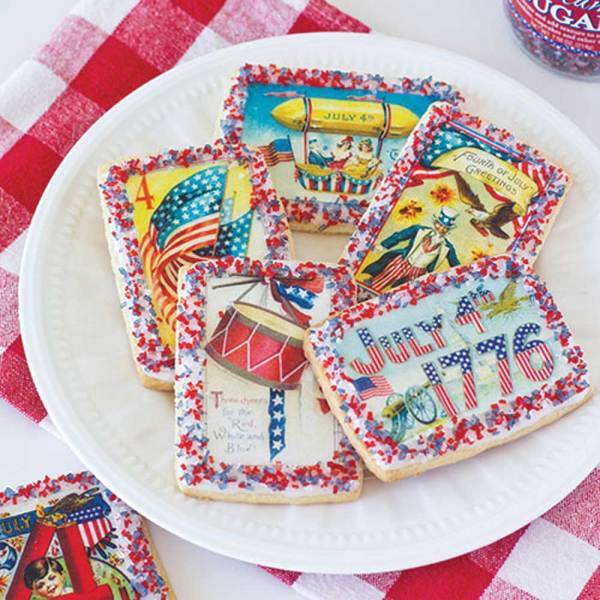 Patriotic Postcards Wafer Paper