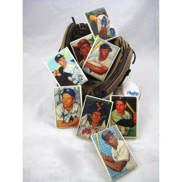 Vintage Baseball Trading Cards Wafer Paper