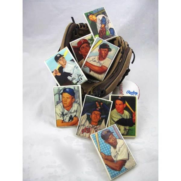 Vintage Baseball Trading Cards Wafer Paper