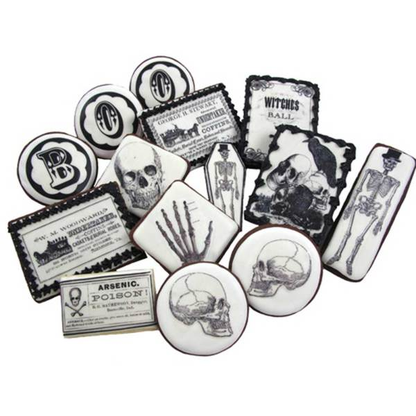 Vintage Halloween Black & White Wafer Paper