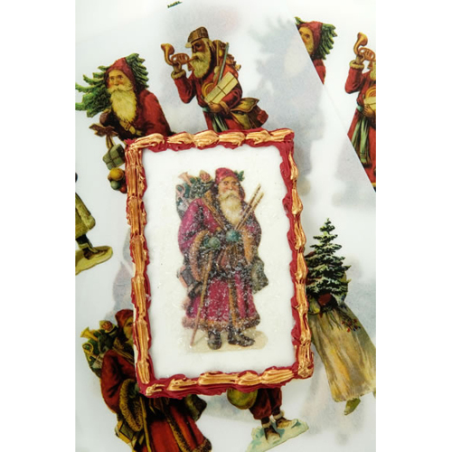 Holiday Vintage Santa  Wafer Paper