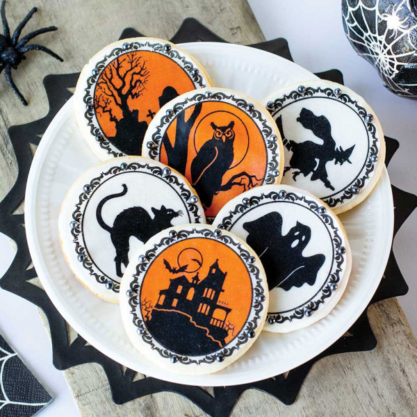Halloween Illustration Wafer Paper