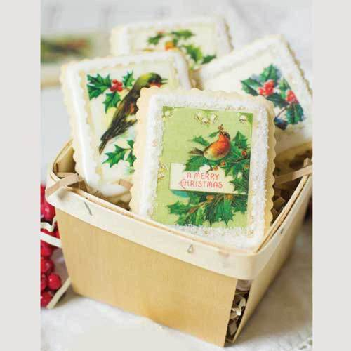 Holiday Botanical Stamps Wafer Paper