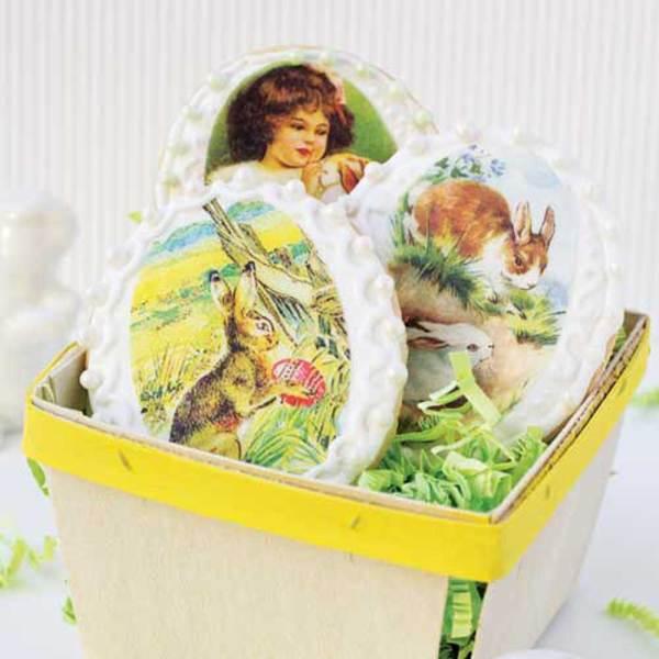 Easter Vintage Ovals Wafer Paper
