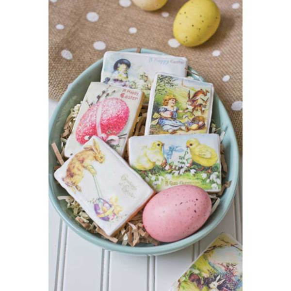 Easter Vintage Mini Postcards  Wafer Paper, 24 Images