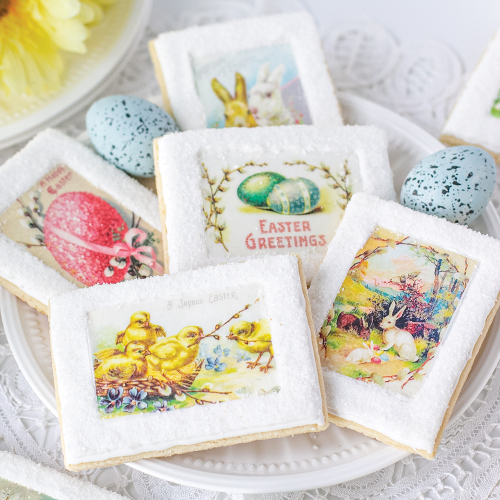 Easter Vintage Mini Postcards  Wafer Paper