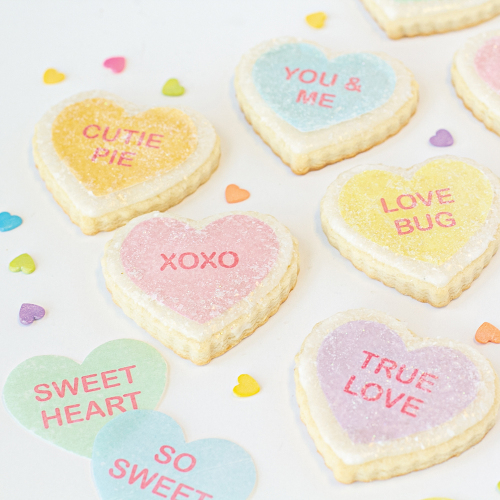 Talking Hearts Valentine Wafer Paper