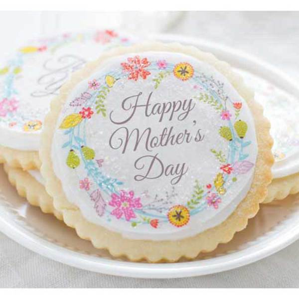 Floral Wreath Mother's Day Wafer Paper