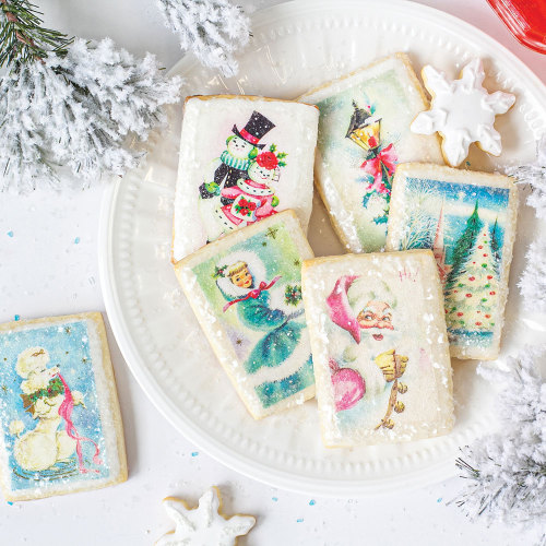 Pastel Christmas Edible Wafer Paper