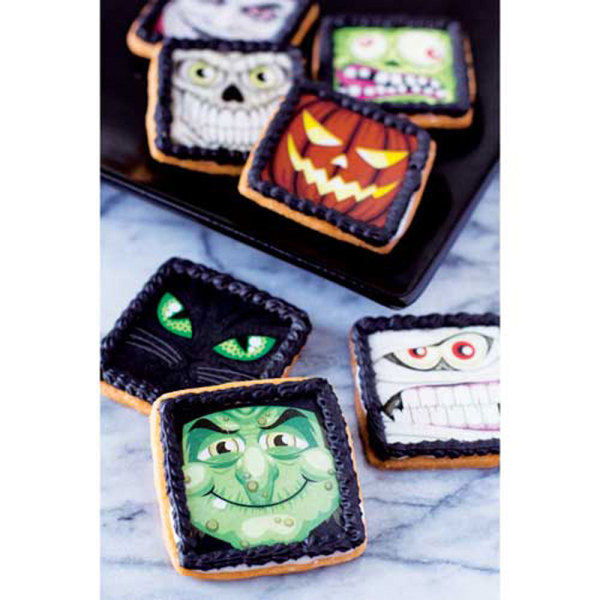 Spooky Halloween Characters Wafer Paper