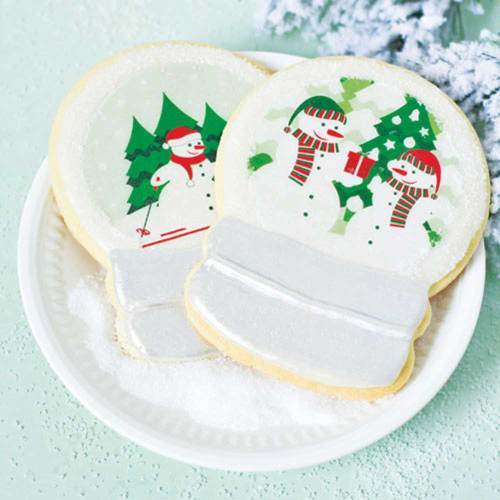 Snowman Snow Globe Wafer Paper