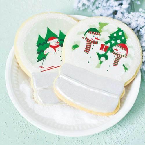 Snowman Snow Globe Wafer Paper