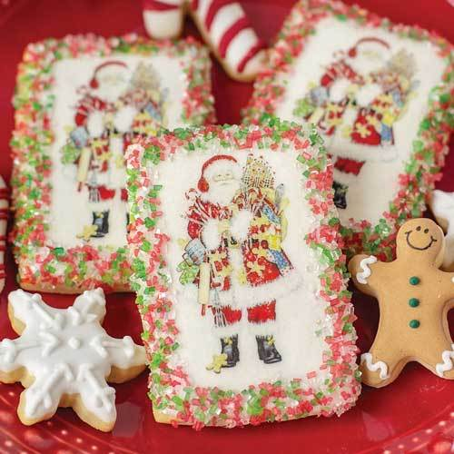 Gingerbread Santa Edible Wafer Paper