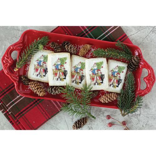 Woodland Santa Edible Wafer Paper