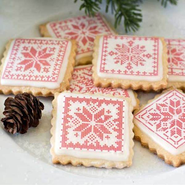 Holiday Cross Stitch Blocks Wafer Paper