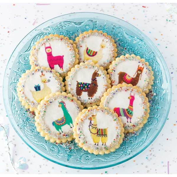 Colorful Llama Wafer Paper