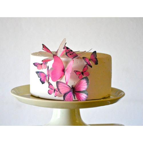 Pink Butterflies Wafer Paper