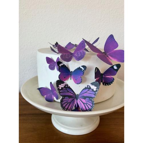 Purple Butterflies Wafer Paper