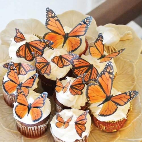 Monarch Butterflies Wafer Paper