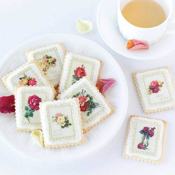 Rose Bouquet Stamps Wafer Paper