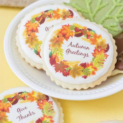 Autumn Wreath Wafer Paper