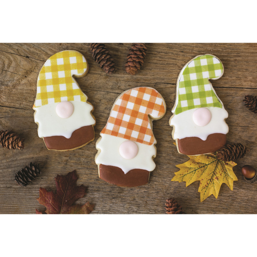 Fall Checked Edible Wafer Paper