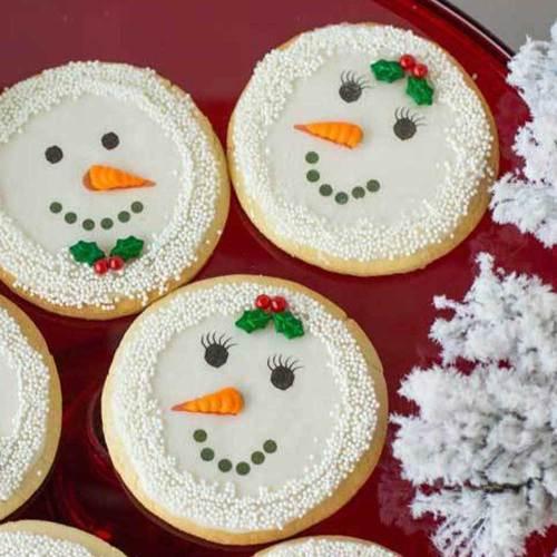 Snowman Faces Edible Wafer Paper