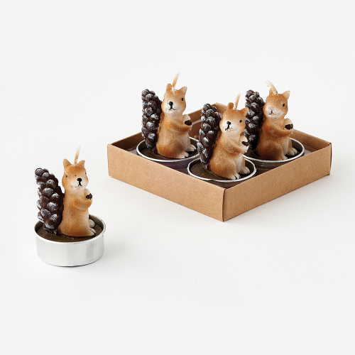 Squirrel Tealight Candle Set