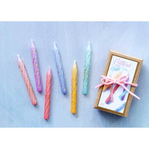 Glittered Party Candles Set