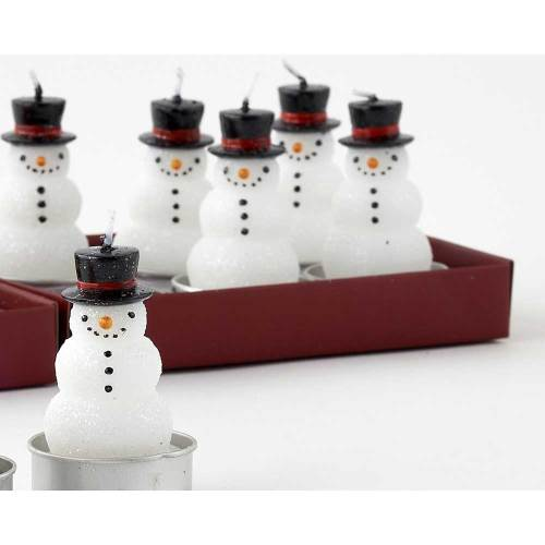 Snowman Tealight Boxed Set