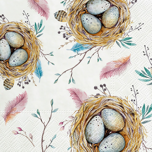Bird Nest Lunch Napkins