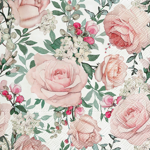 Gorgeous Roses Lunch Napkins