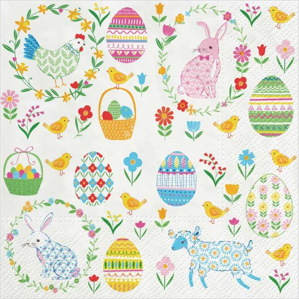 LTD QTY! Easter Everywhere Paper Lunch Napkin