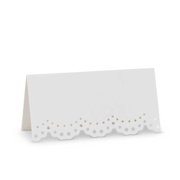 SALE!  Lace Edge Folded Place Cards