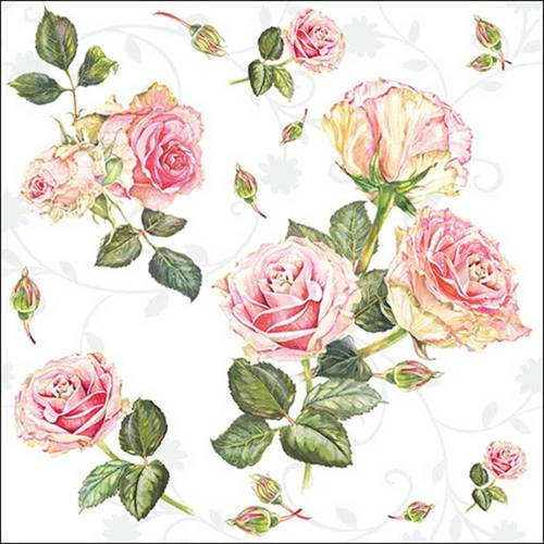 Rosie White Lunch Napkin