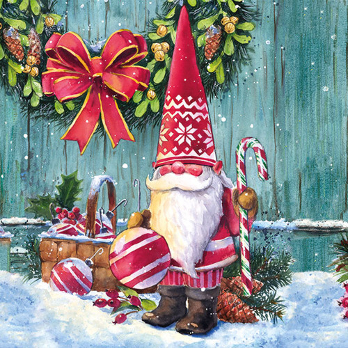 Christmas Gnome Lunch Napkin