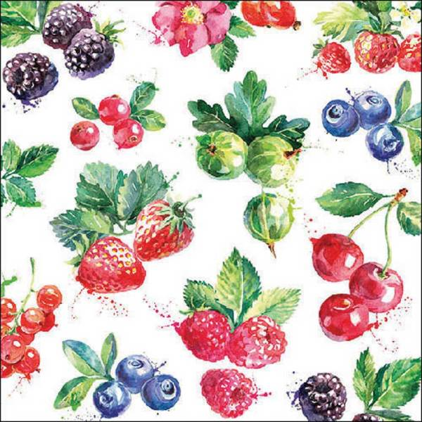 Berries Lunch Paper Napkins