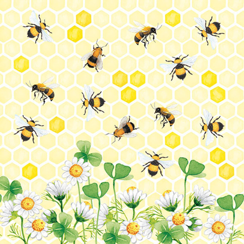 LTD QTY!  Bee's Joy Lunch Napkins