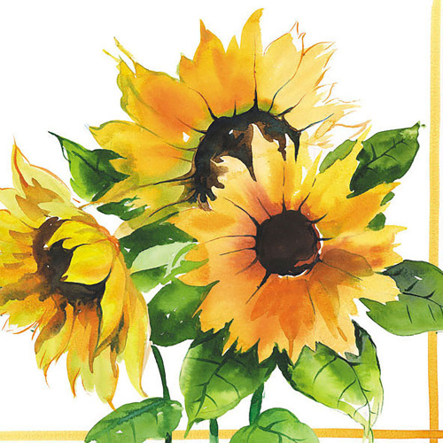 LTD QTY!  Girasoli Lunch Napkins